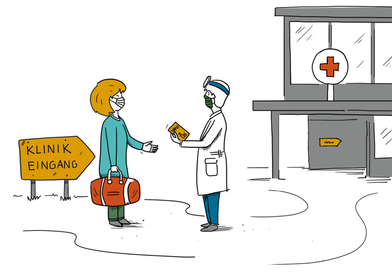 Illustration: Klinikaufenthalt