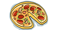 Illustration: Eine Pizza